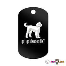 Got Goldendoodle Engraved Keychain / Gi Tag dog with Tab doodle Many Colors