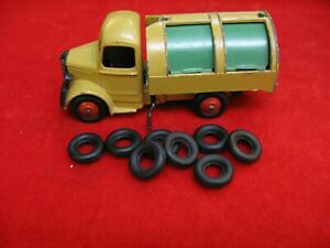 Large Smooth Tires for Dinky Toys & Tootsie, black, 16-17mm, Lot of 8