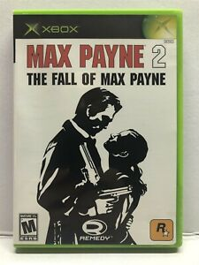 Max Payne 2: The Fall of Max Payne (Microsoft Xbox, 2003) Complete w/ Manual