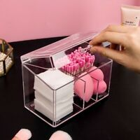 Acrylic Makeup Organizer Cotton Swabs Storage Holder Box Cotton Pads Containers