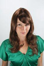 Femme perruque brun rouge Mèches PERRUQUE Postiche lang 50cm 4038-18/350