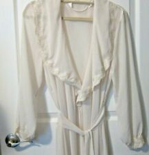 Ivory Sheer Robe Dressing Gown Size M/L