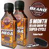 MEGA BEARD GROWTH OIL - 6 MONTH SUPER-CYCLE Value Pack + BRUSH - LEGENDS BEARD™!