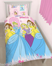 SINGLE BED PRINCESS BOULEVARD DUVET COVER SET BELLE CINDERELLA RAPUNZEL PINK