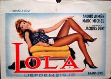 LOLA Belgian movie poster ANOUK AIMEE JACQUES DEMY 1961 Very Rare