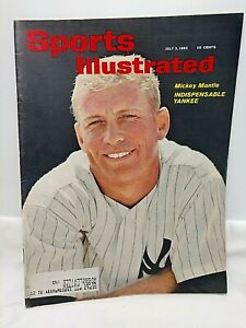 1962 Sports Illustrated Magazine Mickey Mantle Cover July 2 Issue