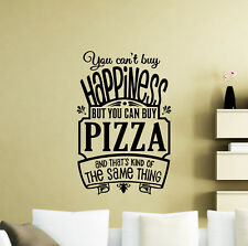 Pizza Wall Decal Poster Quote Kitchen Cafe Vinyl Sticker Pizzeria Decor Art 46me