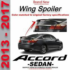 Genuine OEM Honda ACCORD 4dr SEDAN Deck Lid Wing Spoiler 2013 - 2017