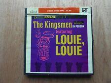 "The Kingsmen In Person Louie' Louie 7"" x 1/4"" 33/4 Ips Reel to Reel Tape Wand657"