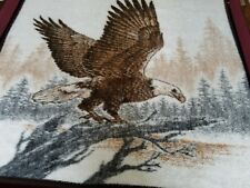 """Biederlack Eagle Blanket 46"""" x 53"""" approx. made in U.S.A. Throw Brown and tan"""