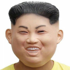 Kim Jong-un Mask Face Hair Costume Cosplay Party Costume Latex Human Face Mask