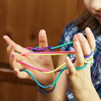 Rainbow Or Glitter Magic String Art Cat's Cradle Kids Fidget Fumble Finger Game