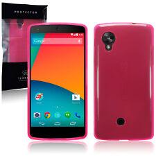LG Nexus 5 Case, Genuine Tech 2 Flex Shock Proof  Gel TPU Rock Cover Hot Pink