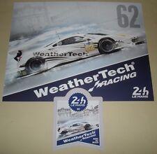Le Mans 2017 Du Mans FIA WEC Weather Tech Ferrari 488 GTE AM #62 Cards & Sticker
