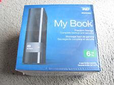 WD My Book Premium Storage 6TB USB 3.0 External Hard Drive WDBFJK0060HBK-NESN