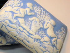 Antique Ceramic Porcelain Signed La Vergne Cupids Angels Jewelry Box Trinket