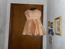 MAC DUGGAL COUTURE SPARKLY PEACHY GOLD STRAPLESS DRESS W/RHINESTONES&BEADING 2