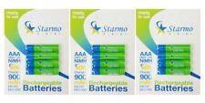 12 X starmo AAA MN2400 900mAh HR03/1.2V Baterías Recargables NiMH Listo Para Usar