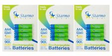 12 x starmo AAA MN2400 900mAh HR03 / 1,2 V Batterie Ricaricabili NiMH Pronto all' uso