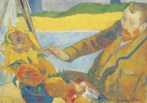 Gauguin - Portrait of Van Gogh - A4 size 21x29.7cm Canvas Art Print Unframed