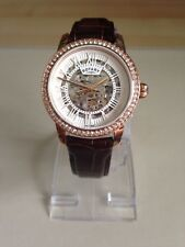 Rotary Ladies' Rose Gold Plated Skeleton Strap Watch LS03098/21.