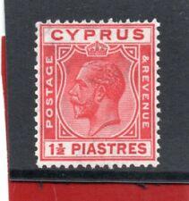 Cyprus GV 1925 1.1/2pi. scarlet sg 120 HH.Mint