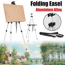 160Cm Artist Easel Aluminum Field Easel Stand w/ Carry Bag for Floor Art Silver