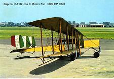 Postcard 224 - Plane/Aviation Caproni CA 32 con 3 Motori Fiat (300 HP total)