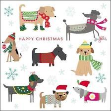 Pack of 5 Festive Dogs Samaritans Charity Christmas Cards Xmas Card Packs