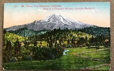 Old Postcard 375 Mt. Shasta From Edgewood, California Road - Postmarked 1911