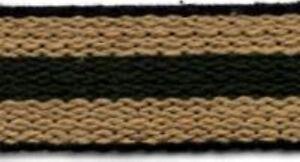"""Shaker Tape- Green/Beige Stripe - 1"""" wide by the yard - cane spline reed wicker"""