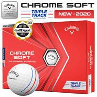 Callaway Chrome Soft Triple Track Golf Balls Dozen Pack White - NEW! 2020