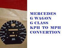 MERCEDES G WAGON G CLASS SPEEDO FACE KM TO MPH