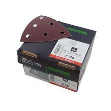 Festool STF V93/6 P80 RU2/50 | Delta Sandpaper | RUBIN 2 | Grit: P80 | 499163