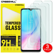 For Xiaomi Mi 9 Lite Caseswill HD-Clear Tempered Glass Screen Protector [3-Pack]
