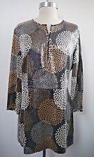 NEW TORY BURCH silk print fully sequined long tunic mini dress size 10