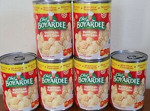 6x SIX cans Chef Boyardee Pasta in Butter Sauce Wheel Noodles 15 oz EXP 12/2021