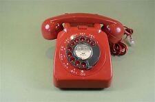 Original restored red colour model 706 vintage telephone 1970's-80's