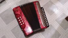 Vintage HOHNER diatonic ERICA Accordion two-row button RED made in Germany
