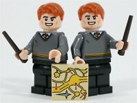 LEGO HARRY POTTER FRED & GEORGE WEASLEY MINIFIGURES - MADE OF GENUINE LEGO PARTS