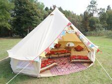 Waterproof 4m Canvas Bell Tent Baumwolle Leinwand Bell zelt für die Familie