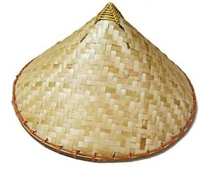 Coolie Hat - Farmer's Hat - Bamboo - Costume Accessory - Adult Teen