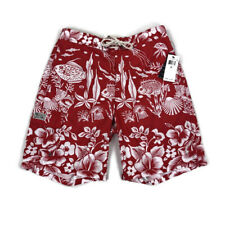 Polo Ralph Lauren Mens Swim Suit Trunks Fish Seashell Print Red Medium