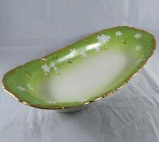 ANTIQUE T&V Limoges France Repose Oval Celery Dish Early Tressemann & Vogt Bowl