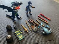 Lot Of Playmobil Dragon Figures + Knight Accessories