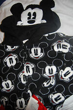 DISNEY MICKEY MOUSE HOODED NON FOOTED PAJAMAS 1 PC NEW PJ'S ADULT L  LARGE