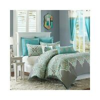 MADISON PARK NISHA TEAL FULL/QUEEN 7-PC COMFORTER SET