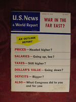 U S NEWS WORLD REPORT Magazine August 22 1958 Economic Outlook Report