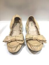 100% authentic Miu Miu leather flats with bow, size 36