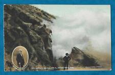 C1910s PC DEVIL'S BLOW HOLE, WAIMANGU, NEW ZEALAND VIGNETTE OF GUIDE McCORMICK